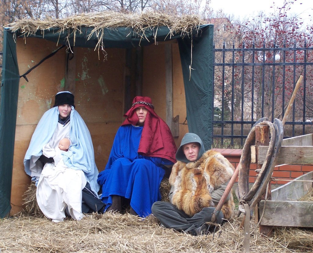 Live nativity scene in Appalachia