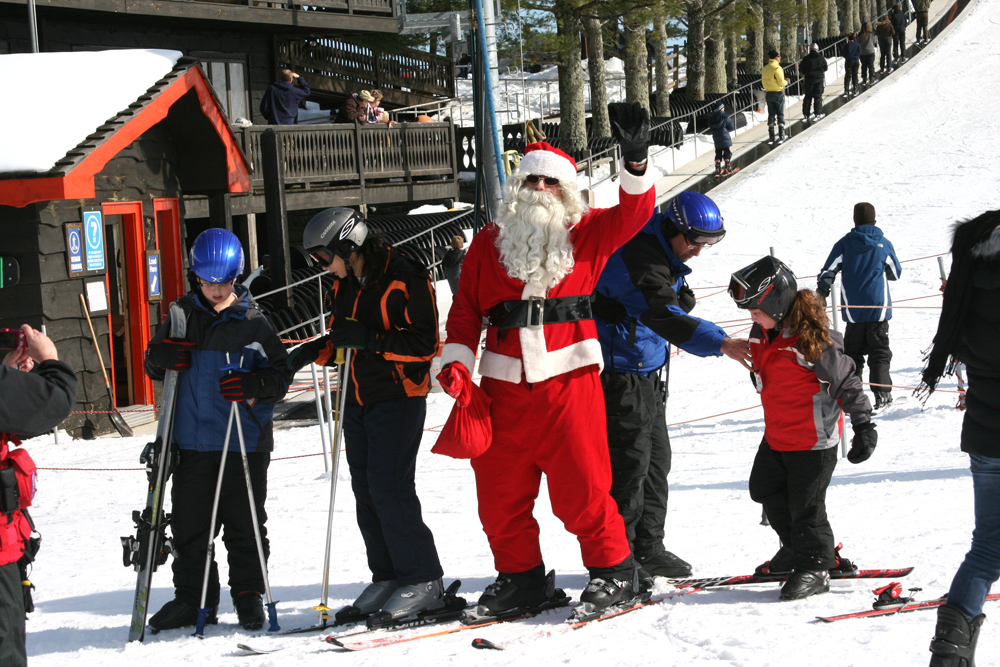 Skiing with Santa at Appalachian Ski Mountain