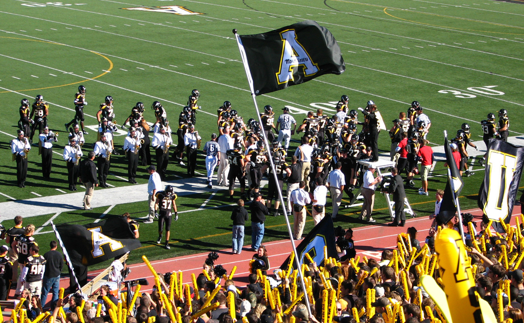 Appalachian State University has a large presence in Boone